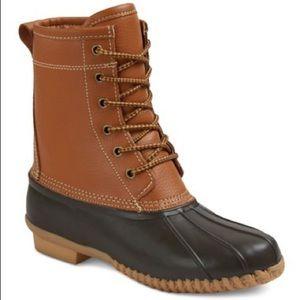 Merona Hudson Leather Duck Boots - Cognac & Black